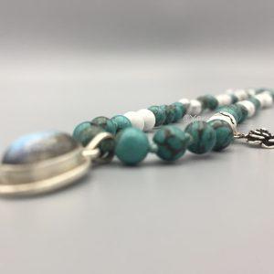 halsketting-necklace-Labradoriet-turkoois-afrikaans