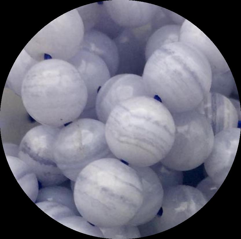 Agaat-Blauw Kant Agaat-Blue Lace Agate