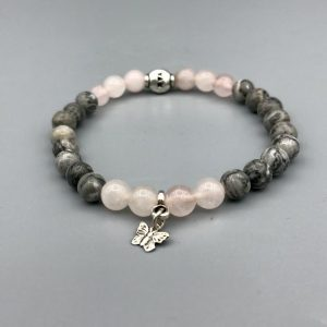 Jaspis-Rozenkwarts-agate-rosequartz-bracelet-armband