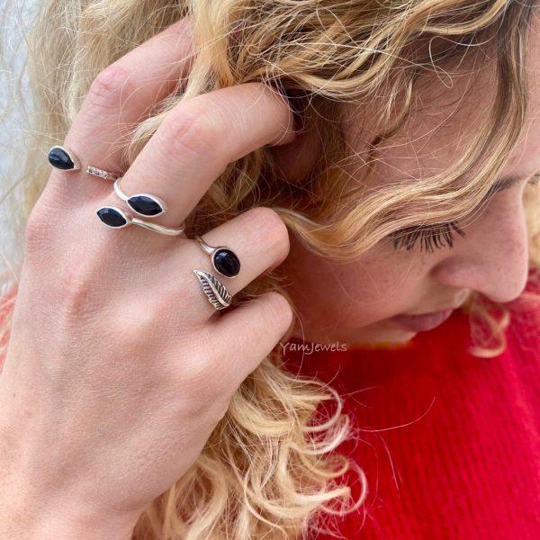 Combo-model-ring-onyx-zilver