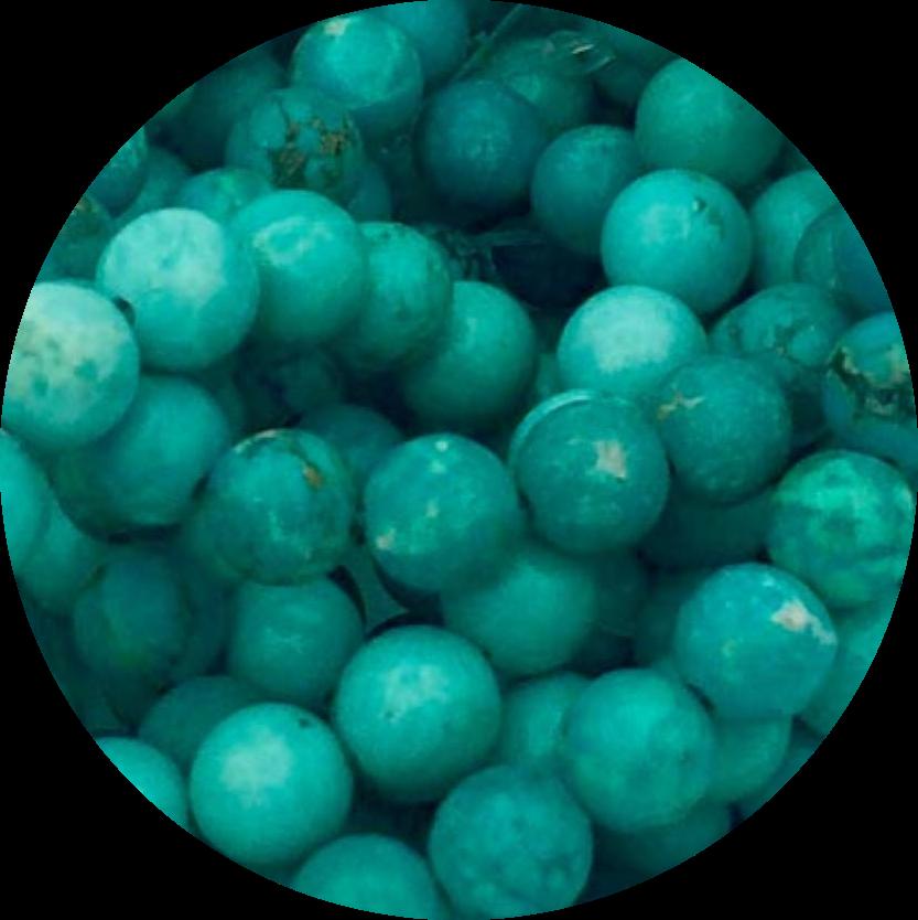 Howliet Turkoois-Howlite turquoise