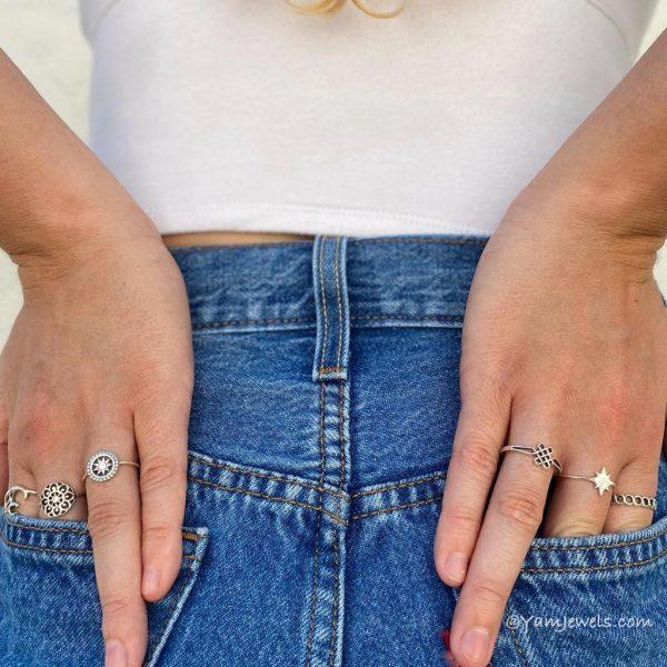 Model Zilveren Ringen
