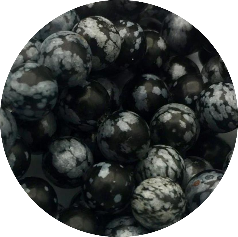 Obsidaan-Sneeuw Obsidiaan-Snowflake Obsidian