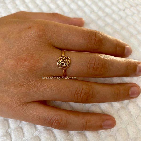 Ring-model-brass-koper-rond16