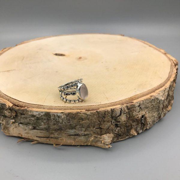 Ring-ovaal-rozenkwarts-groot