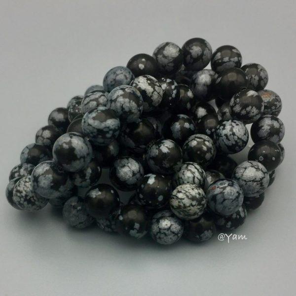 Stone-steen-obsidiaan-sneeuwvlok-obsidiaan-snowflake-obsidian