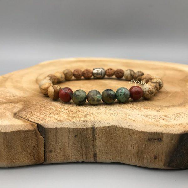 armband-rudraksha-jaspis-buddha-turkoois