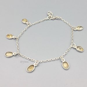 armband-zilver-sterling-citrien-halfedelstenen-bedels