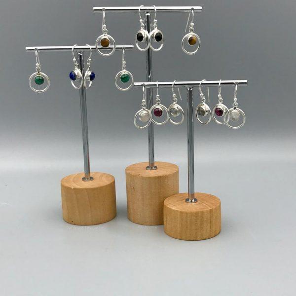 combo-oorringen-rond-in-rond-zilver-halfedelstenen-maansteen-malachiet-tijgeroog-lapis-onyx-labradoriet