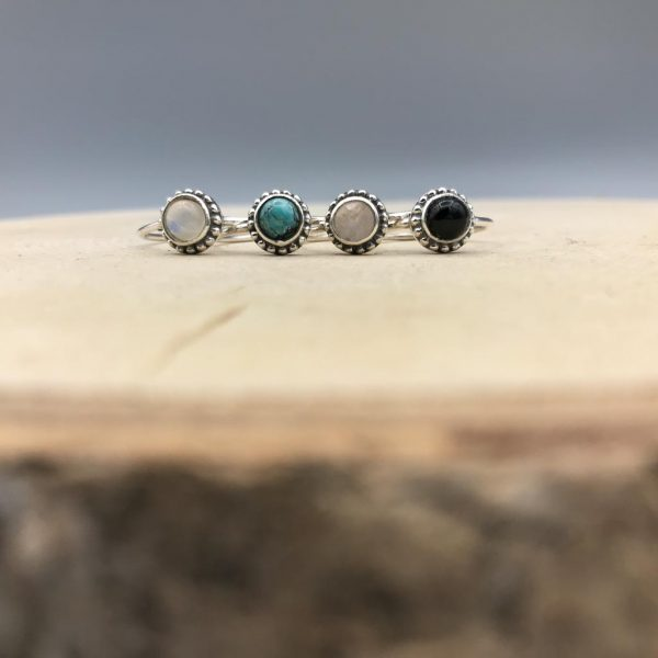 combo-ringen-dots-maansteen-turkoois-rozenkwarts-onyx-zilver