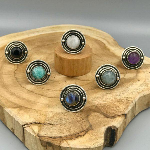 combo-ringen-rings-labradoriet-moonstone-maansteen