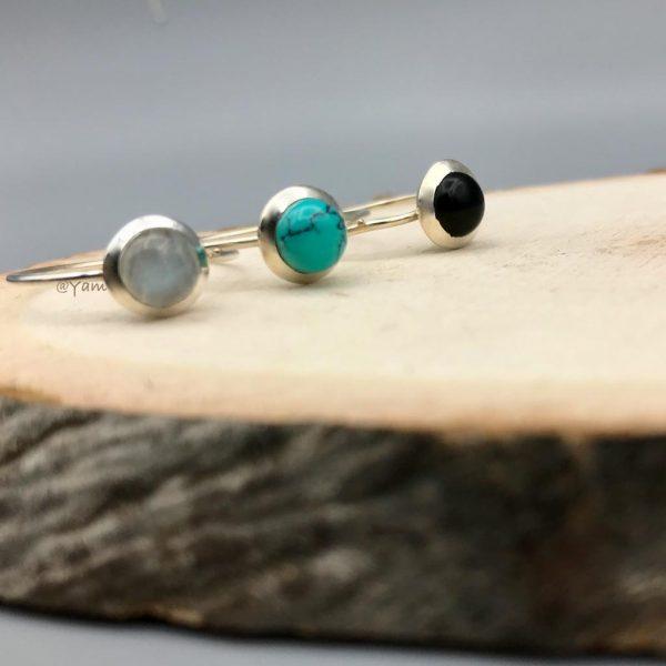 Combo-rond-ringen-zilver-maansteen-onyx-turkoois