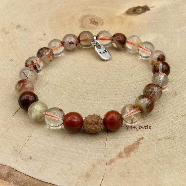 lodoliet-lodolite-rudraksha-redjasper-rodejaspis-bracelet-.armband