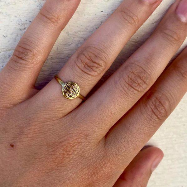 model-ring-brass-koper-sign-of-life-levensteken