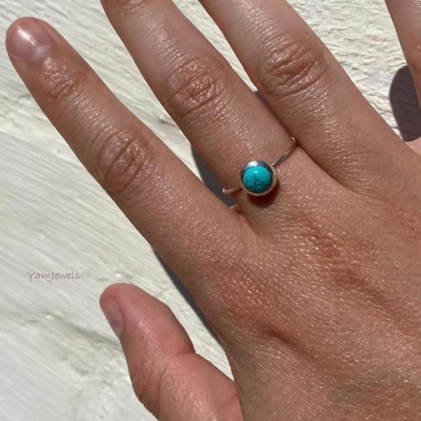 model-ring-turkoois-rond-zilver