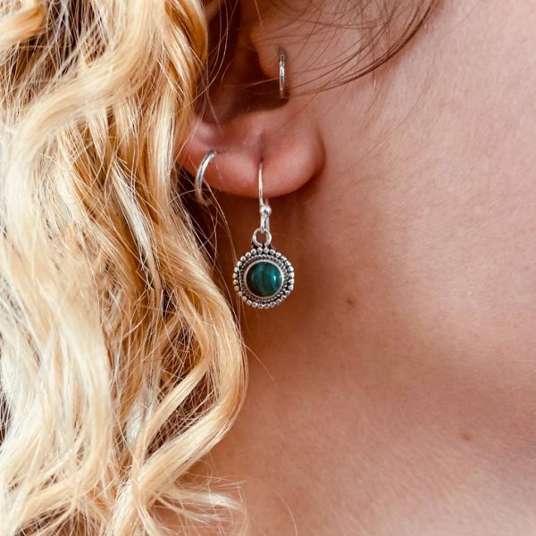 oorringen-earrings-Malachiet-zilver