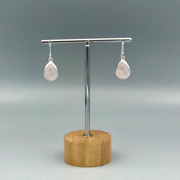 oorringen-earrings-drops-druppel-rozenkwarts