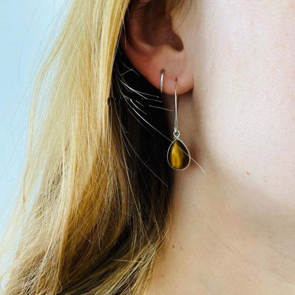 oorringen-earrings-loops-hoops-big-geel-tijgersoog-yellow-tigerseye-sterling-silver-zilver