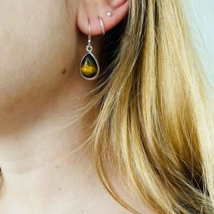 oorringen-earrings-tijgersoog-tigerseye-zilver
