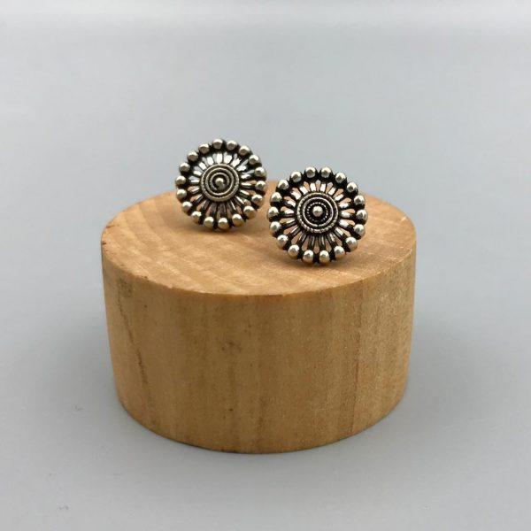 oorringen-earrings-wheel-sterling-silver-zilver