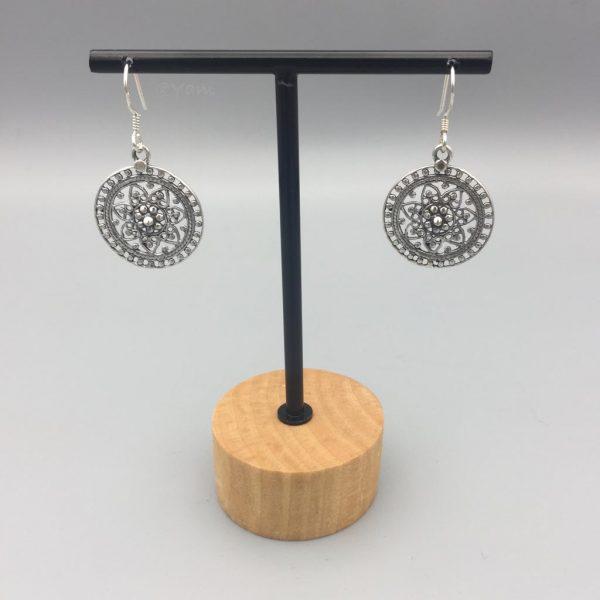 oorringen-rond-zilver-sterling-925-flowers-earrings