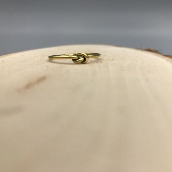 ring-brass-knoop-koper