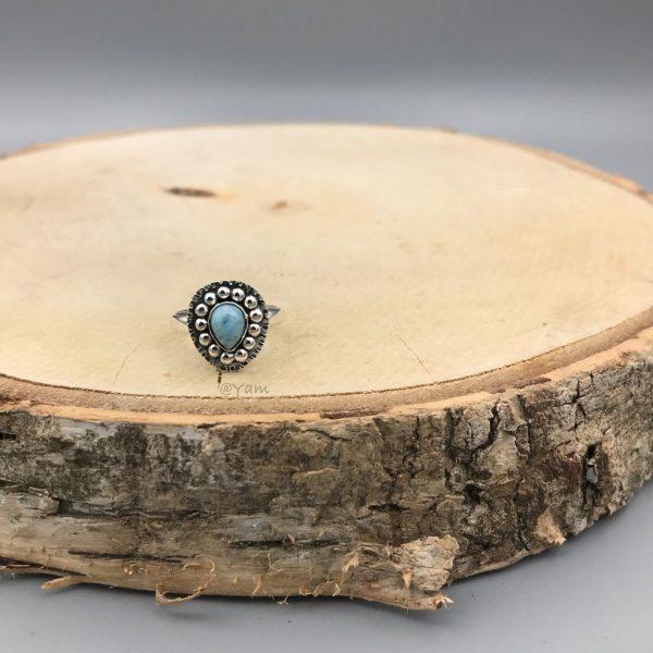 ring-larimar-zilver-dots-druppelvorm