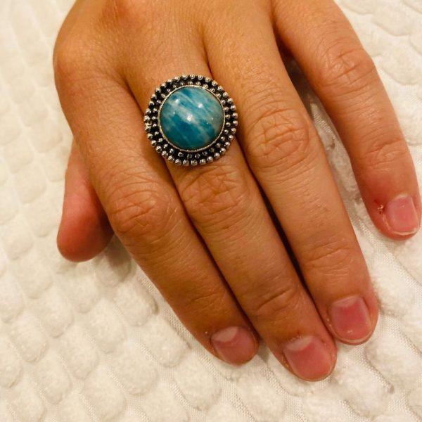 ring-medium-amazoniet-amazonite-zilver-silver