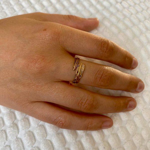 ring-model-brass-koper-veer-feather-18