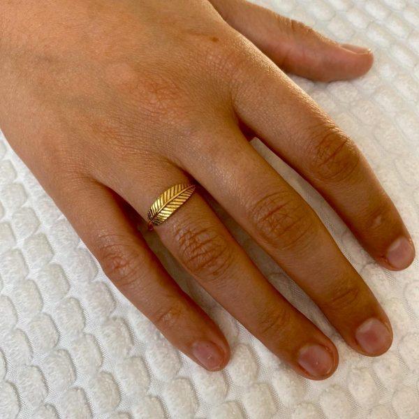 ring-model-brass-koper-veertje-feather-14