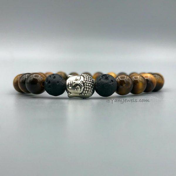 armband-tijgersoog-lava-buddha-bracelet
