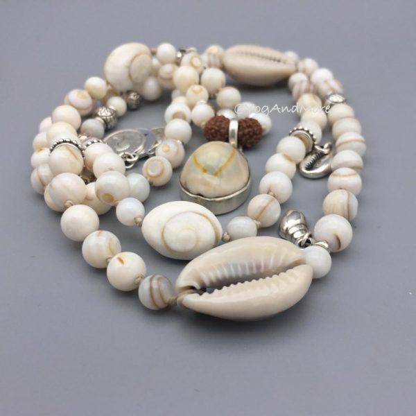 Boho-halsketting-parelmoer