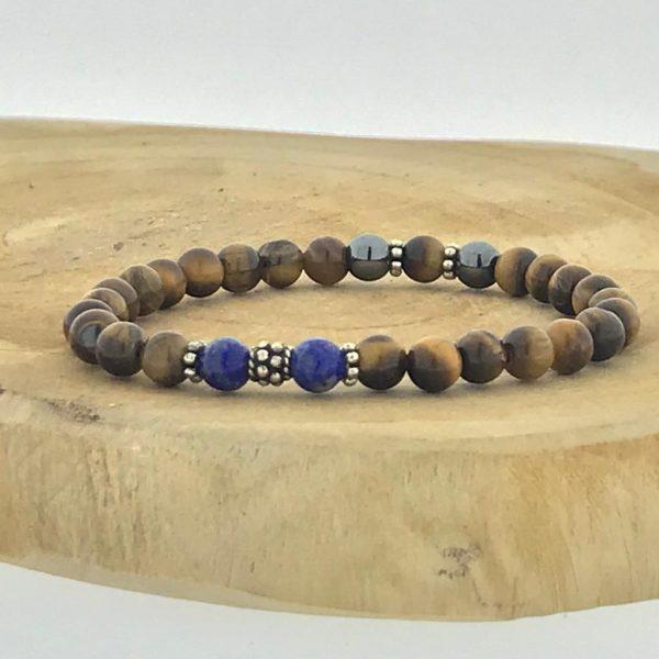 Armband-bracelet-6mm-lapis-lazuli-tijgeroog-tigerseye-hematite