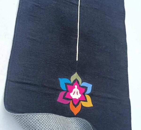 Yogamat-darkblue-cotton