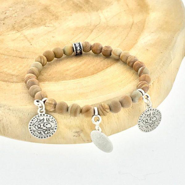 armband-bracelet-6mm-bedels-charms-wood-camel-jaspis-jasper