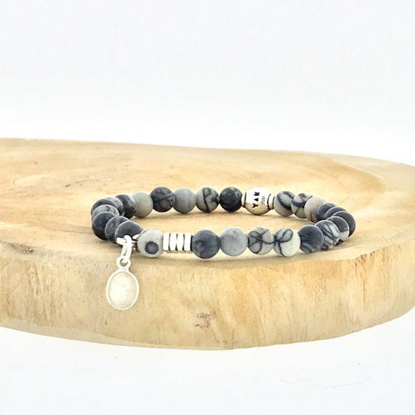 armband-bracelet-6mm-mat-matt-black-zwart-agaat-agate