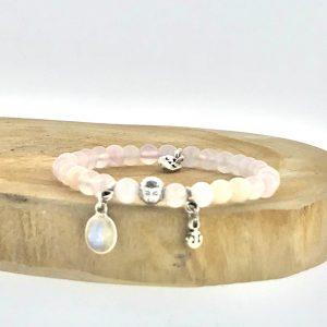 armband-bracelet-6mm-rosequartz-rozenkwarts-moonstone-maansteen