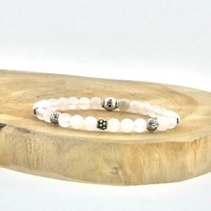 armband-bracelet-6mm-rozenkwarts-rosequartz-beads-silver
