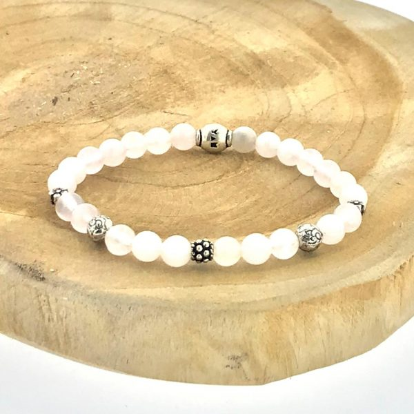 armband-bracelet-6mm-rozenkwarts-zilver-rosequartz