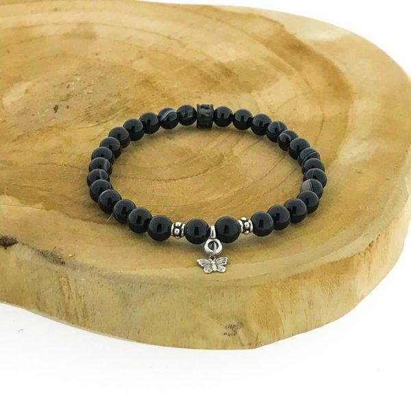armband-bracelet-6mm-zwart-gestreept-agaat-onyx
