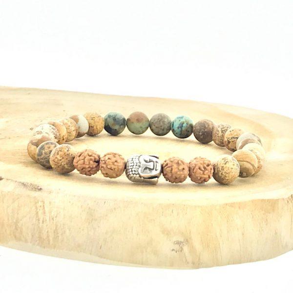 armband-bracelet-buddha-rudraksha-landschaps-jaspis-picture-jasper-african-turquoise-afrikaans-turkoois