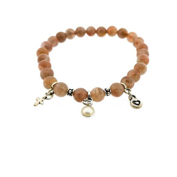 armband-bracelet-charms-zonnesteen-sunstone
