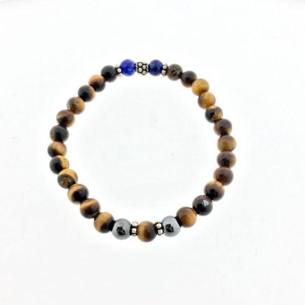 armband-bracelet-hematiet-hematite-tijgeroog-tigerseye-lapis-lazuli-silver-zilver