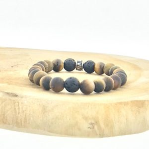 armband-bracelet-mat-matt-tijgeroog-tigerseye-lava