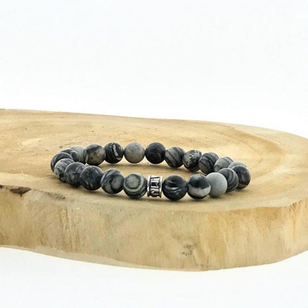 armband-bracelet-matt-black-agate-mat-zwart-agaat