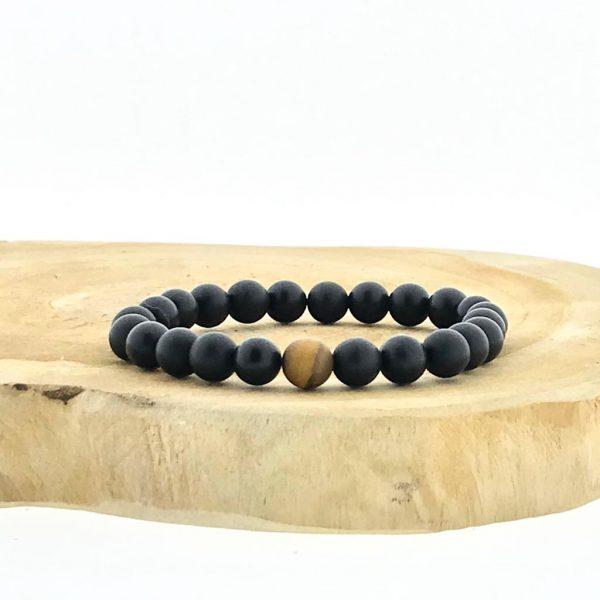 armband-bracelet-matt-onyx-tigerseye-mat-tijgeroog