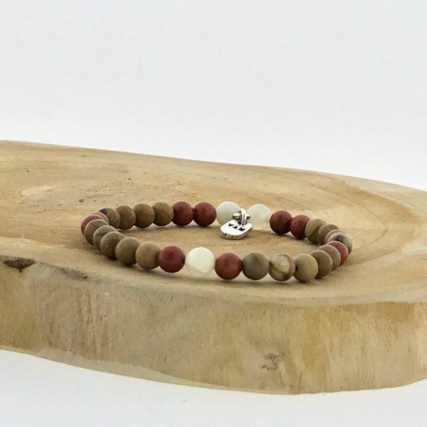 armband-bracelet-moonstone-maansteen-wood-camel-jasper-jaspis-red-rood