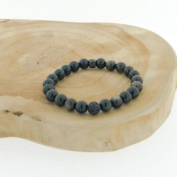 armband-bracelet-obsidiaan-obsidian-golden-lava-gouden