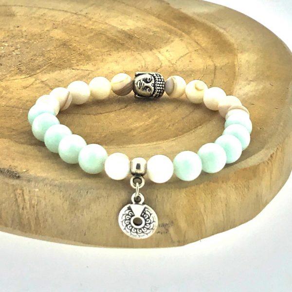 armband-bracelet-parelmoer-mop-amazoniet-amazonite-buddha