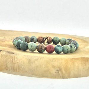 armband-bracelet-red-jasper-rood-jaspis-african-turquoise-afrikaans-turkoois-rudraksha